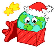 Earth in gift box Stock Images