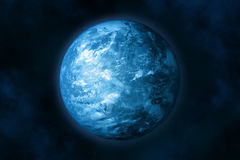Earth (glacial period). Planet earth in space. Stars and Nebula. In the creation of 3D-image textures used by NASA Stock Photography