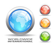 Earth glass buttons Royalty Free Stock Photo