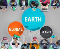 Earth Global Planet Globalization Connection Concept Stock Photo