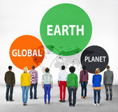 Earth Global Planet Globalization Connection Concept Royalty Free Stock Photos