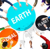 Earth Global Planet Globalization Connection Concept Stock Image