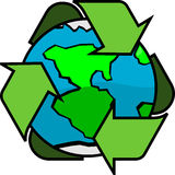 Earth Global Recycling Green Planet Stock Photography