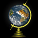 Earth globe. With atmosphere and clouds Stock Images