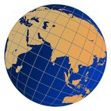 Earth Globe. Illustration depicting earth globe on a white background Royalty Free Stock Images