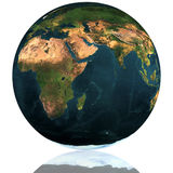 Earth Globe. On A White Background Royalty Free Stock Images