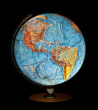 Earth globe. On black background royalty free stock image