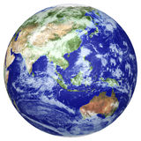 Earth globe. Cloud map. Side of the Asia and Australia Stock Images