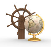 Earth globe. Royalty Free Stock Photo