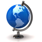 Earth globe. 3d illustration of earth globe Royalty Free Stock Photography