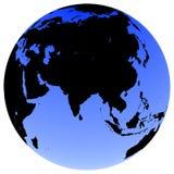 Earth Globe. Virtual earth globe view - asia Stock Image