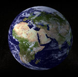Earth Globe. 3d rendering globe on black background Royalty Free Stock Images