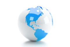 Earth Globe. Isolated over a white background royalty free illustration