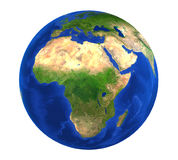 Earth Globe Africa View Isolated Royalty Free Stock Photography