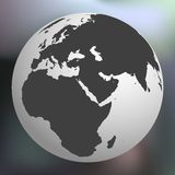 Earth globe against abstract background Royalty Free Stock Images