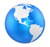 Earth Globe America View Isolated Royalty Free Stock Photo