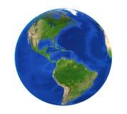 Earth Globe America View Isolated Stock Photo