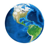 Earth Globe America View Isolated Stock Photos