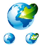 Earth Globe with an Arrow Royalty Free Stock Image