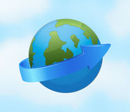 Earth globe and arrow Stock Images