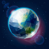 Earth globe as icosahedron. Eps10 illustration Stock Images