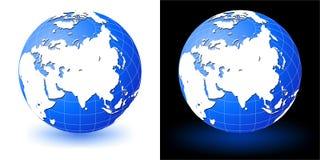 Earth globe. Asia Stock Photo