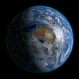 Earth Globe Australia - Clouds and Lines Royalty Free Stock Images