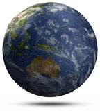Earth globe - Australia and Pacific ocean Royalty Free Stock Images