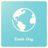 Earth Globe on Blue Graph Background. Earth Day Sign Stock Image
