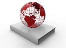 Earth globe on a book Stock Photography