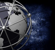 Earth Globe in Cage Stock Image