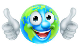 Earth Globe Cartoon Character Royalty Free Stock Photo