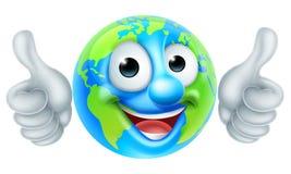Earth Globe Cartoon Character Royalty Free Stock Photo