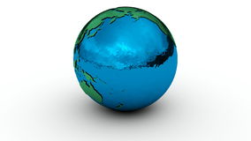 Earth Globe Chrome On White