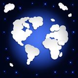 Earth globe from clouds. Royalty Free Stock Image