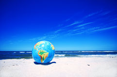 Earth globe. Conceptual image Stock Photos