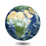 Earth globe 3d render Royalty Free Stock Photo