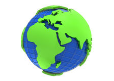 Earth globe 3d rendering Stock Photography