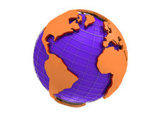 Earth globe 3d rendering royalty free illustration