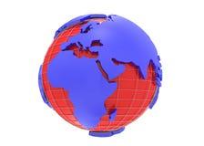 Earth globe 3d rendering Royalty Free Stock Photos