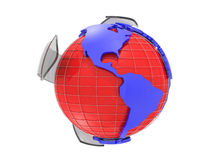 Earth globe 3d rendering Royalty Free Stock Photo
