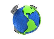 Earth globe 3d rendering Stock Photo