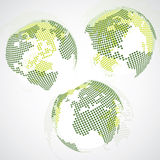 Earth Globe Designs - World Map Stock Photography