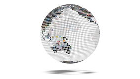 Earth Globe Dot Matrix stock footage