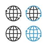 Earth Globe Emblem Set. Vector Royalty Free Stock Photos