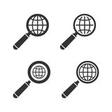 Earth Globe Emblem Set. Vector Royalty Free Stock Images