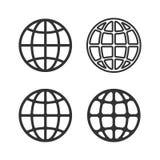 Earth Globe Emblem Set. Vector Stock Images