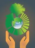 Earth globe environment concept Stock Photos