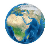 Earth Globe Europe View Isolated Royalty Free Stock Image