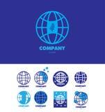Earth globe global company logo Stock Photo